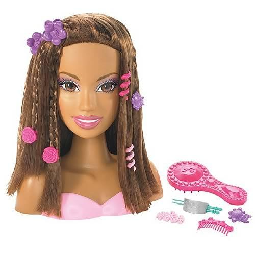 Super Barbie Styling Head African American The Bizimage Short Hairstyles Gunalazisus